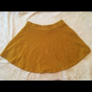 Forever 21 mustard yellow skater skirt